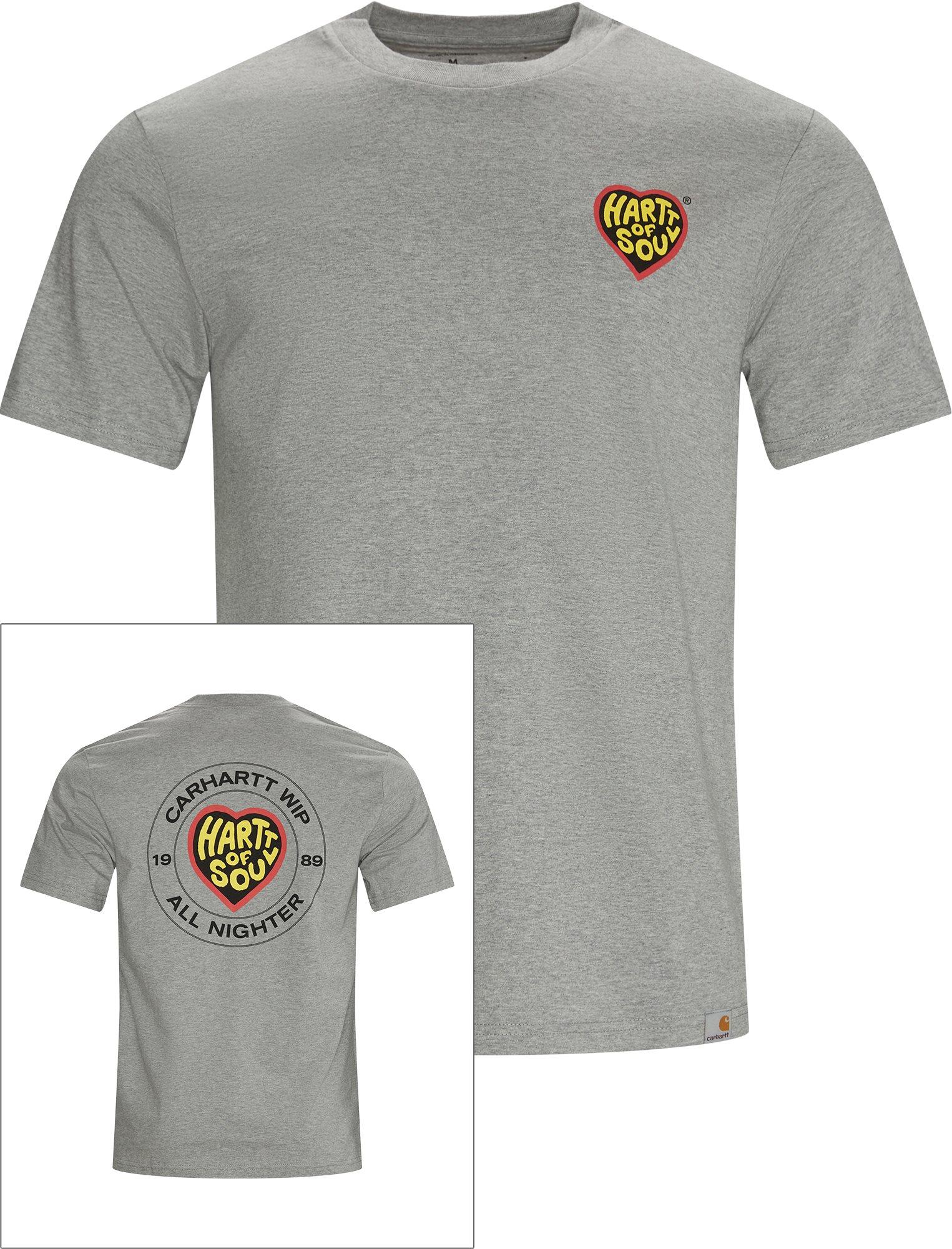 Hartt Of Soul Tee - T-shirts - Regular - Grå